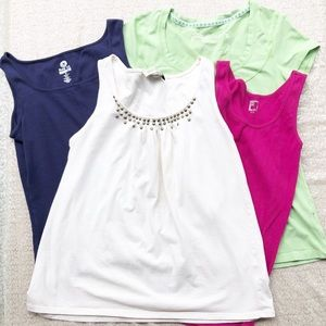 Summer Tops Bundle Of 4, Colorful, Sleeveless, Sma